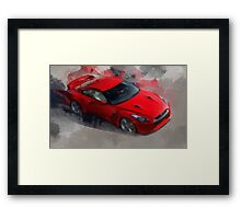 Red Sports Car Framed Print
