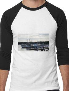"""Boothbay Harbor """"Vessel"""" Men's Baseball ¾ T-Shirt"""