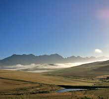 summer early morning western cape dwarskloof by John Brian Dawes