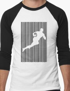 Rugby Player with Ball 2 Men's Baseball ¾ T-Shirt