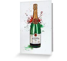 Tattinger Champagne Bottle Greeting Card