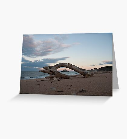 Remote Beach Greeting Card
