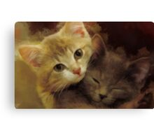 Snuggling Canvas Print