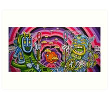 Melbourne Graffiti Art Print