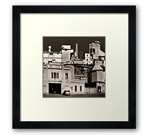 The Factory in black and white Framed Print