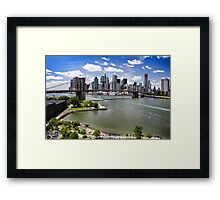 New York City, the Brooklyn Bridge Framed Print