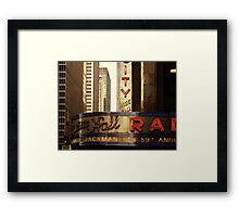 Radio City Music Hall, New York City Framed Print