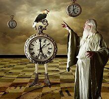 Father Time... by Karen  Helgesen