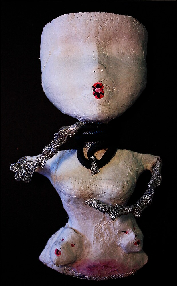 Self Portrait, Abstract Sculpture by C Rodriguez