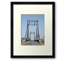 Bridges across the Loire River, France Framed Print
