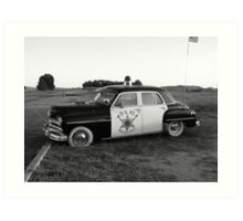 Old Police Cruiser Art Print