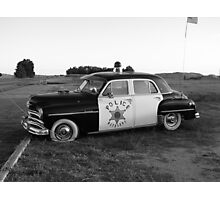 Old Police Cruiser Photographic Print