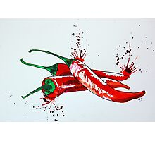 Red Hot Chilli Pepper Photographic Print