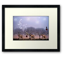 One Foot In Front Of The Other... Framed Print