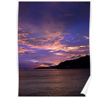 Blue Sunset - Islands, Caribbean Poster