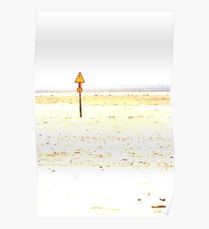 Danger on the Beach Poster