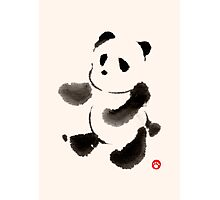 Ink Wash Panda Photographic Print