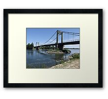 Bridges across the River Loire Framed Print