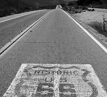 Route 66 ribbon - San Bernardino, CA by Harv Churchill