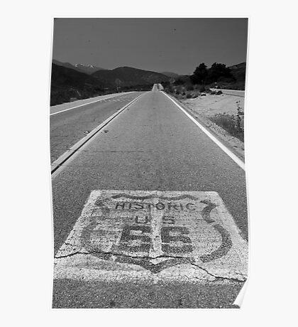 Route 66 ribbon - San Bernardino, CA Poster