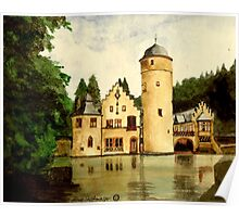 Water Castle Mespelbrunn Spessart, Germany Poster