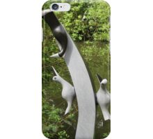 Stone birds on a stone branch iPhone Case/Skin
