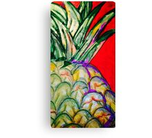 RED Pineapple Canvas Print