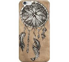 Hipster dreamcatcher feathers vintage paper  iPhone Case/Skin