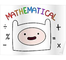 Adventure Time Finn MATHEMATICAL Poster
