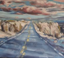 Desert Highway by Patricia Seitz