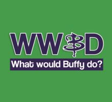 What would Buffy do? Baby Tee