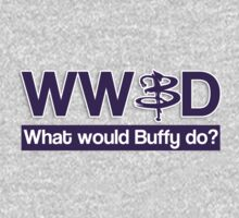 What would Buffy do? Kids Tee