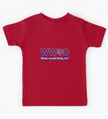 What would Buffy do? Kids Tee