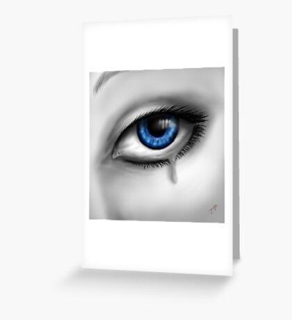 Blue Eyes Cry Greeting Card