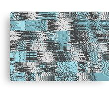 Blue & Gray Pixel Canvas Print