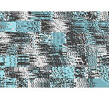 Blue & Gray Pixel Photographic Print