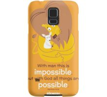 Matthew 19:26 Samsung Galaxy Case/Skin