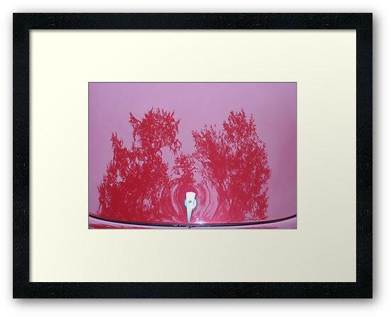 Street Rod Art: Red Trees by Karen K Smith