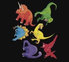 Colourful Dinos! Kids Tee