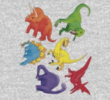 Colourful Dinos! Kids Clothes