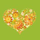 Yellow floral heart by Olga Chetverikova