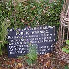 Discarded Railway Sign, Northumberland by Peter Telford