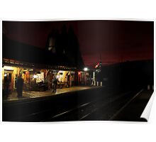 Night time at Arley Poster