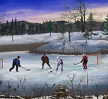 Pond Hockey by Skye Renaud