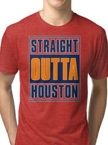 STRAIGHT OUT OF HOUSTON - Baseball Tri-blend T-Shirt