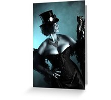 Steampunk V Greeting Card
