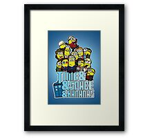 Time and Space and Bananas Framed Print