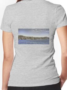 Cruise Ship and Cliffs Women's Fitted V-Neck T-Shirt