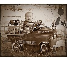 Little Fireman Photographic Print