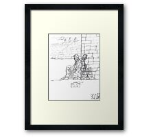 A King Without his castle  Framed Print